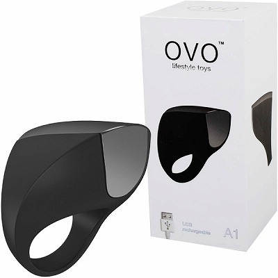 OVO A1 RECHARGEABLE RING (BLACK CHROME)(ペニス増強グッズ)