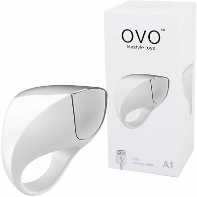 OVO A1 RECHARGEABLE RING (WHITE CHROME)(ペニス増強グッズ)
